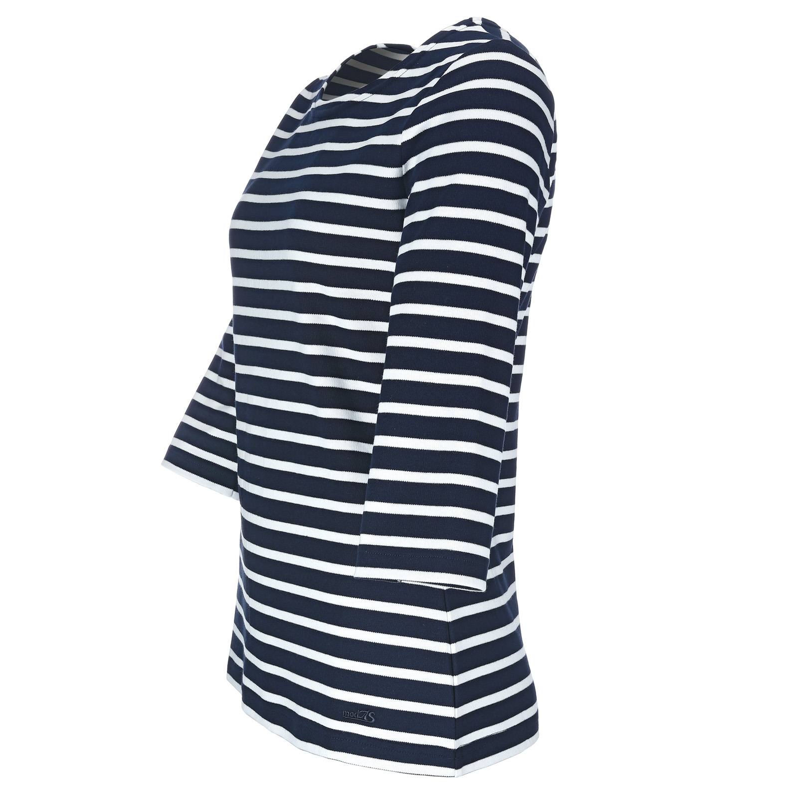 Maritimes Damenshirt 3/4-Arm magnolia/weiß