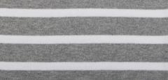 grau-melange / weiß