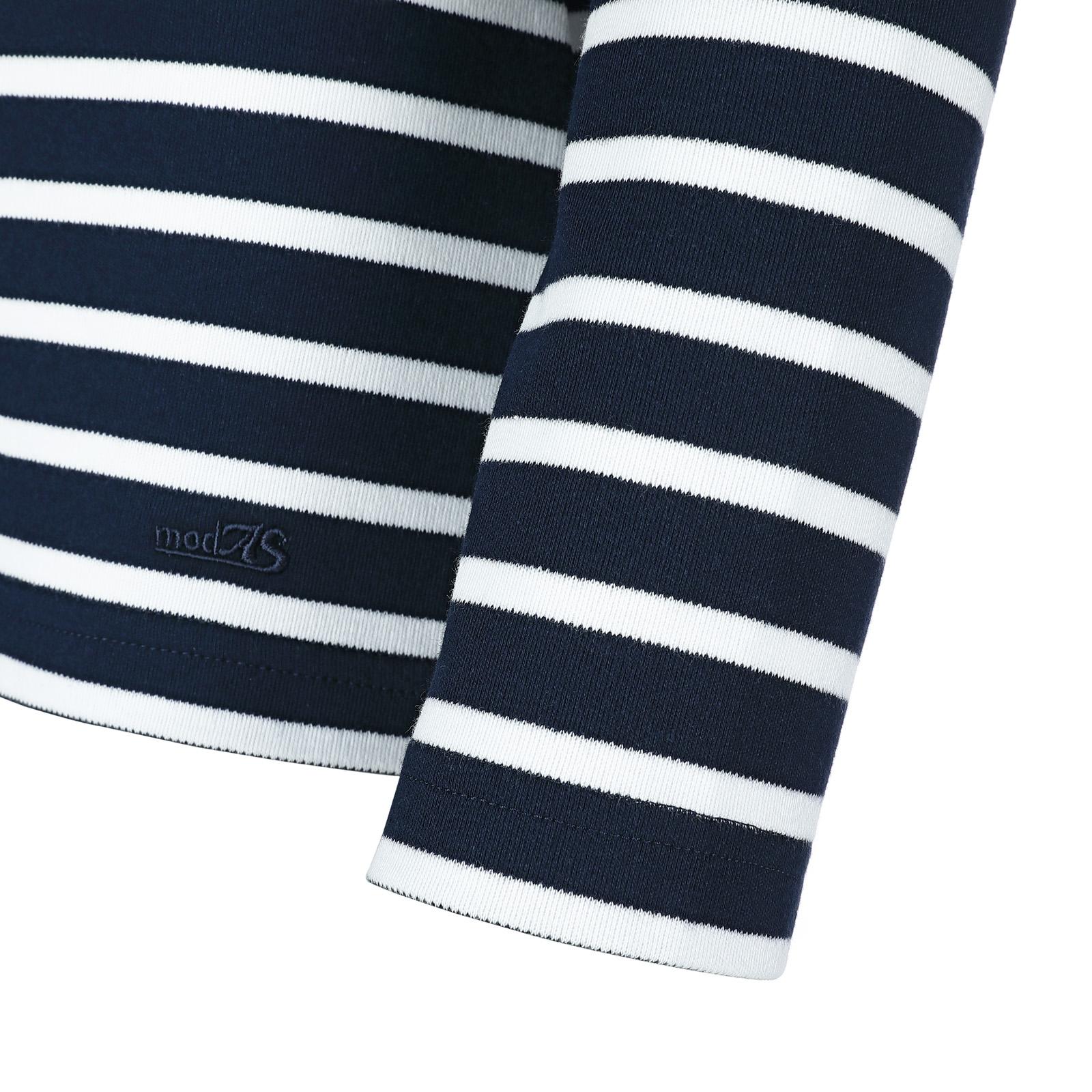 Maritimes Damen-Shirt 1/1-Arm weiß/grau-melange