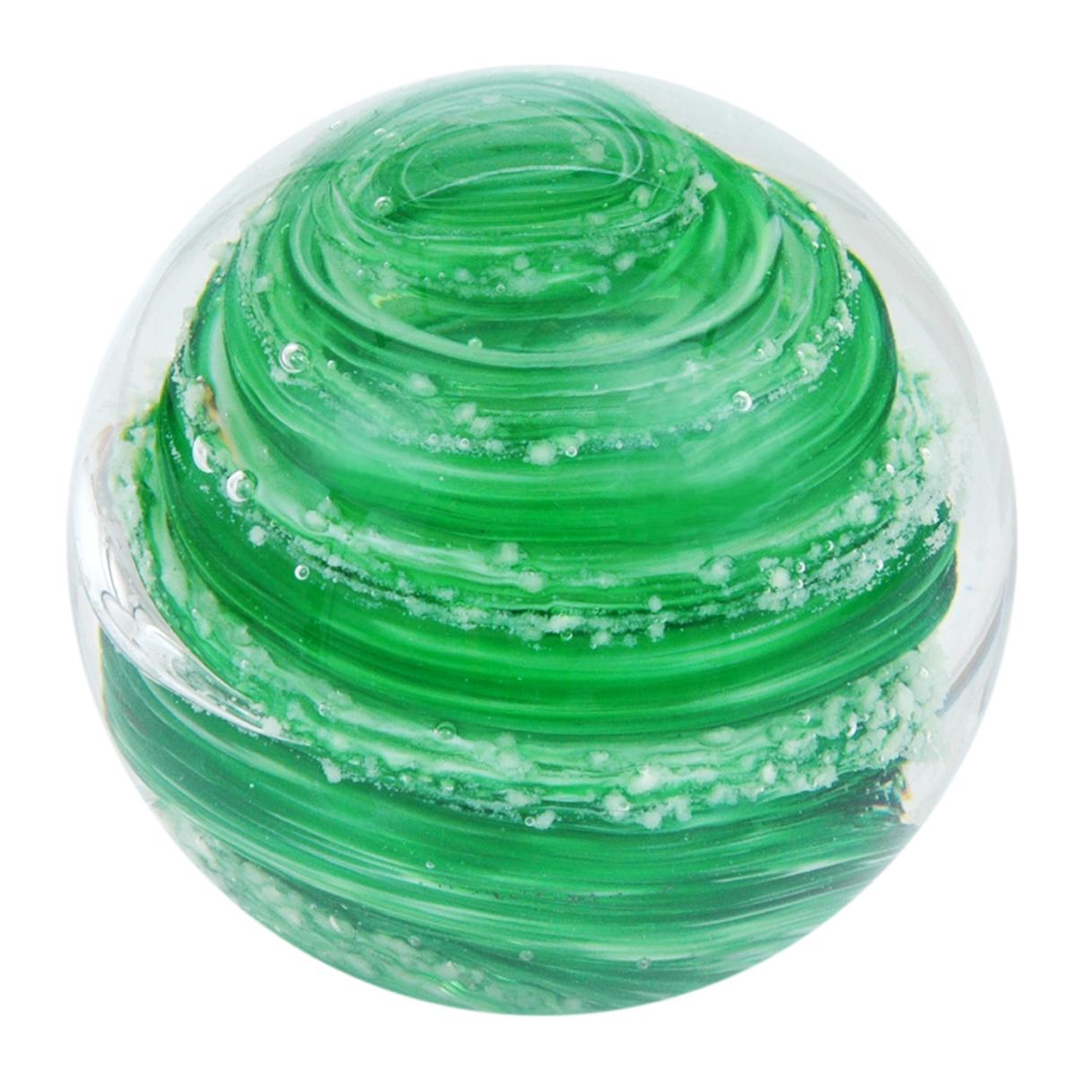 Traum-Glaskugel grüne Spirale